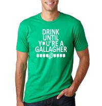 Wild Bobby Drink Until You're a Gallagher Funny Irish Drinking   Mens St. Patrick's Day Graphic T-Shirt