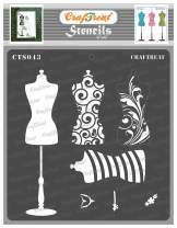 CrafTreat Layered Reusable Stencils for Painting on Wood, Canvas, Paper, Fabric, Floor, Wall and Tile - Mannequin - 6x6 Inches - Reusable DIY Art and Craft Stencils - Stencils forFashion