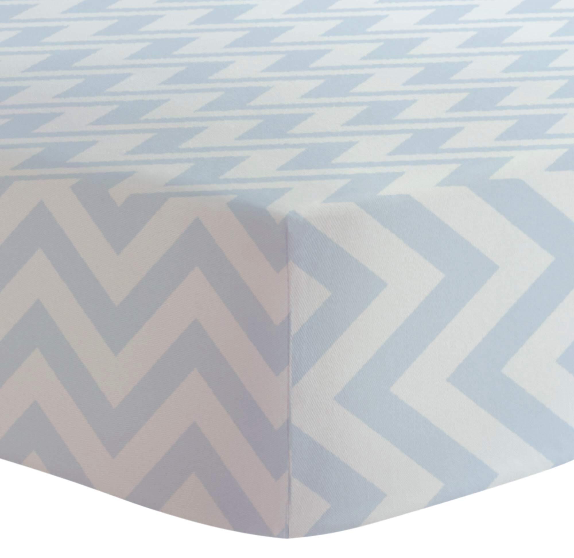 Kushies Baby Fitted Crib Sheet, Blue Chevron