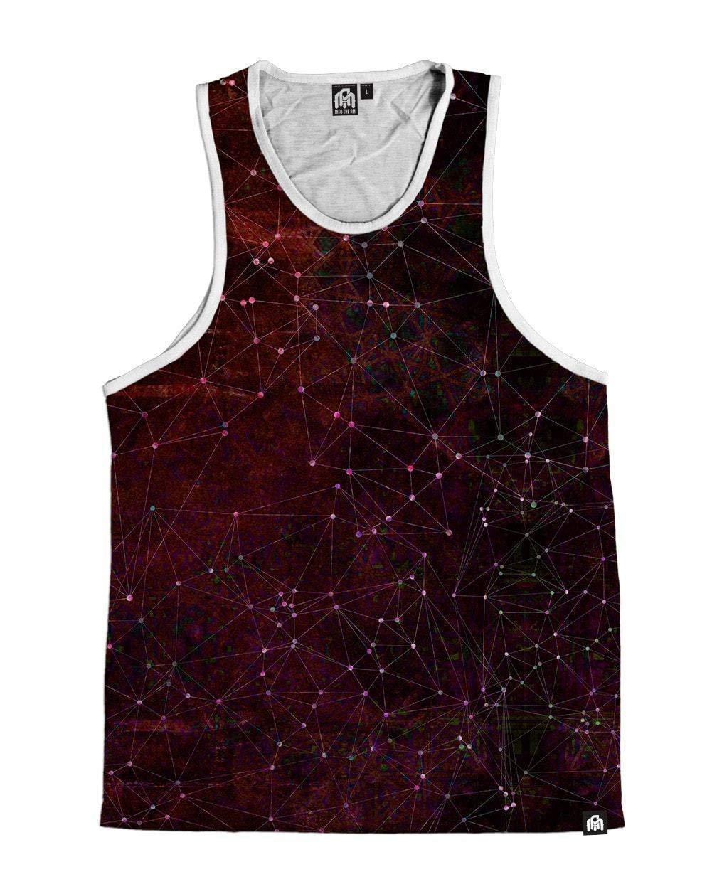 INTO THE AM Zodiac Men's Sleeveless Tank Top Shirt - Red (X-Large)