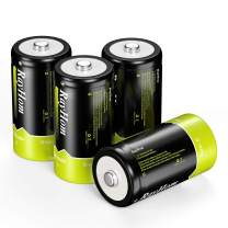 RayHom Rechargeable C Batteries 4Pack - 1.2V 5000mAh Ni-MH High Capacity C Size Battery with Box (4 Pack)