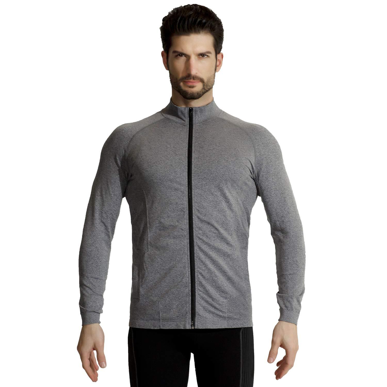 +MD Men's Track Jacket Lightweight Full-Zip Active Performence Jacket for Running Training Fitness