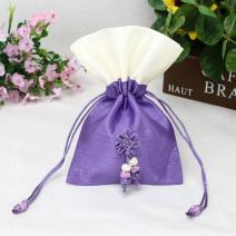 TooGet Sachet Bags Ice Silk Drawstring Bags Jewellery Bags Gift Bags Jewelry Poucches for Wedding Party and DIY Craft, 4x6 Inch Purple Colors, 6-Pack
