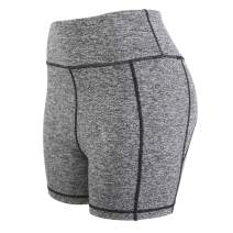CAFELE Workout Yoga Shorts for Women High Waist Pocket Non-See-Through Pants