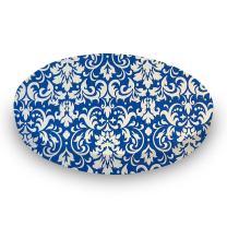 SheetWorld Fitted Oval Crib Sheet (Stokke Sleepi) - Royal Damask - Made In USA