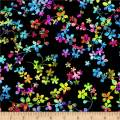 Studio E Fabrics Watercolor Meadow Digital 108'' Wide Back Floral Black/Multi Fabric, 1, Gold/Red, Fabric by the Yard