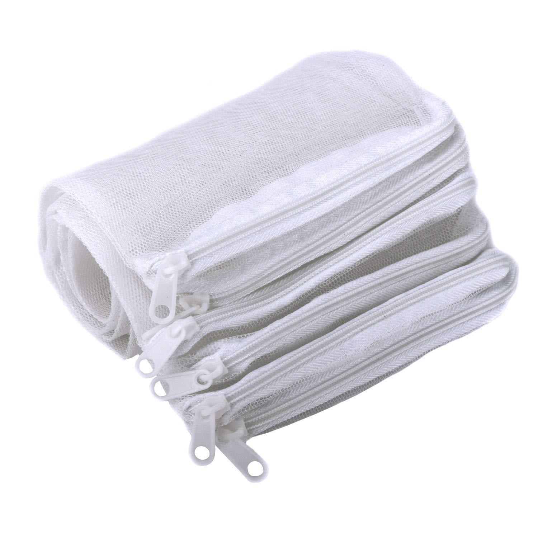 Segarty Filter Media Bags, 10 PCS Aquarium Nylon Mesh Bags with Plastic Zipper, Fish Tank White Net Bags for Pellet Carbon, Bio Balls, Ceramic Rings, Ammonia Remover