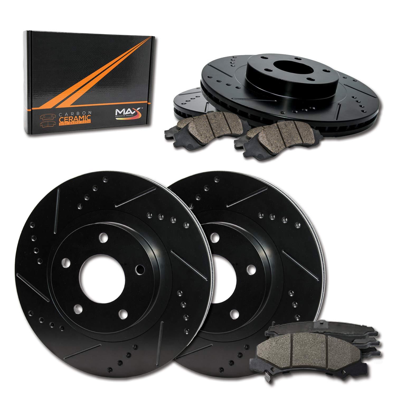 TA107623-10 Max Brakes Front /& Rear Premium XD Rotors and Metallic Pads Brake Kit