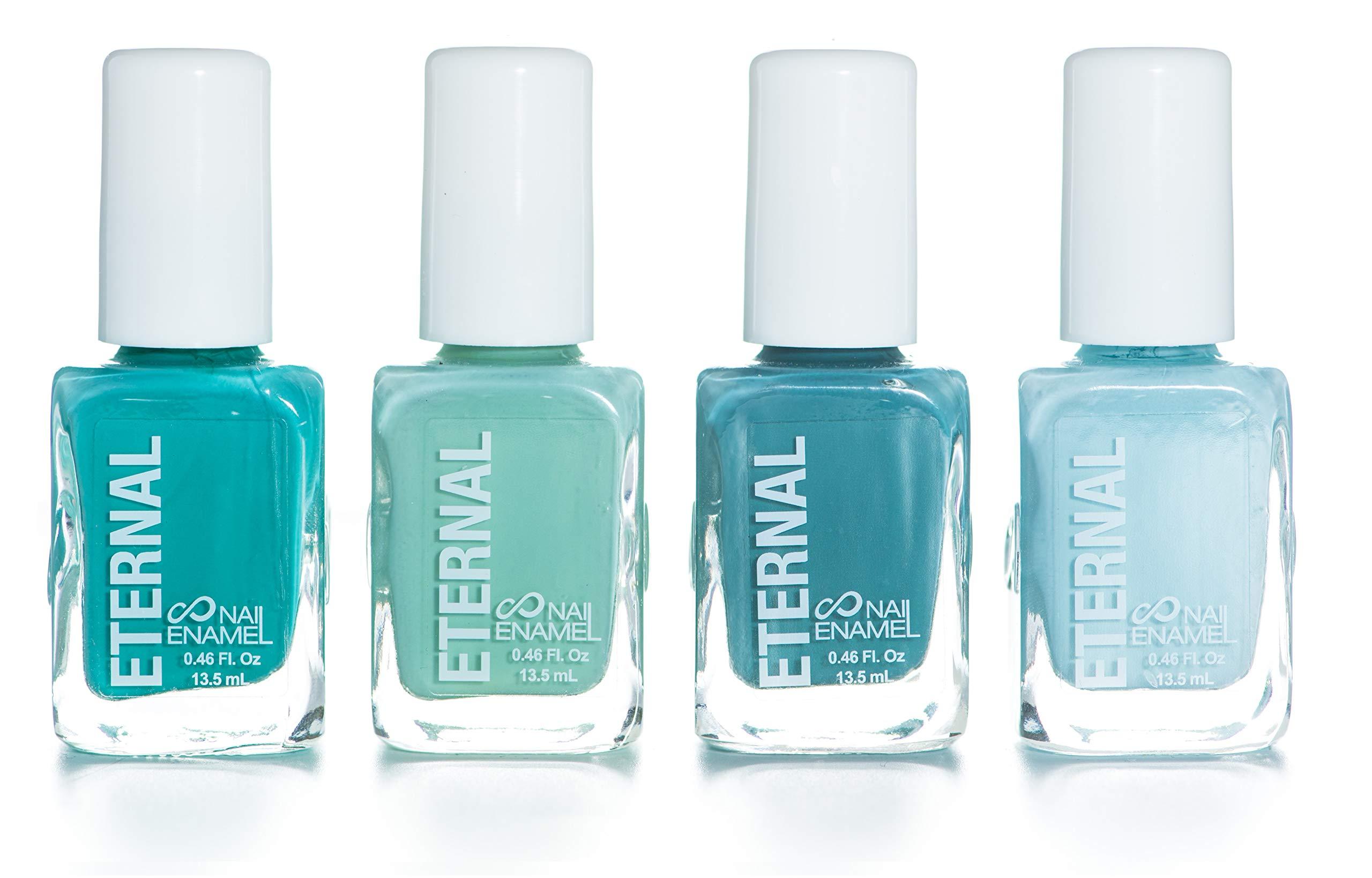 Eternal 4 Collection – 4 Pastel Nail Polish Set: Long Lasting, Quick Dry, Shiny Finish (Mindfulness)