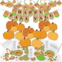 Big Dot of Happiness Pumpkin Patch - Fall or Thanksgiving Party Supplies - Banner Decoration Kit - Fundle Bundle