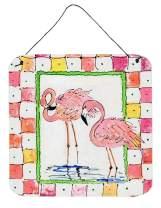 Caroline's Treasures 8077DS66 Bird - Flamingo Aluminium Metal Wall or Door Hanging Prints, 6x6, Multicolor
