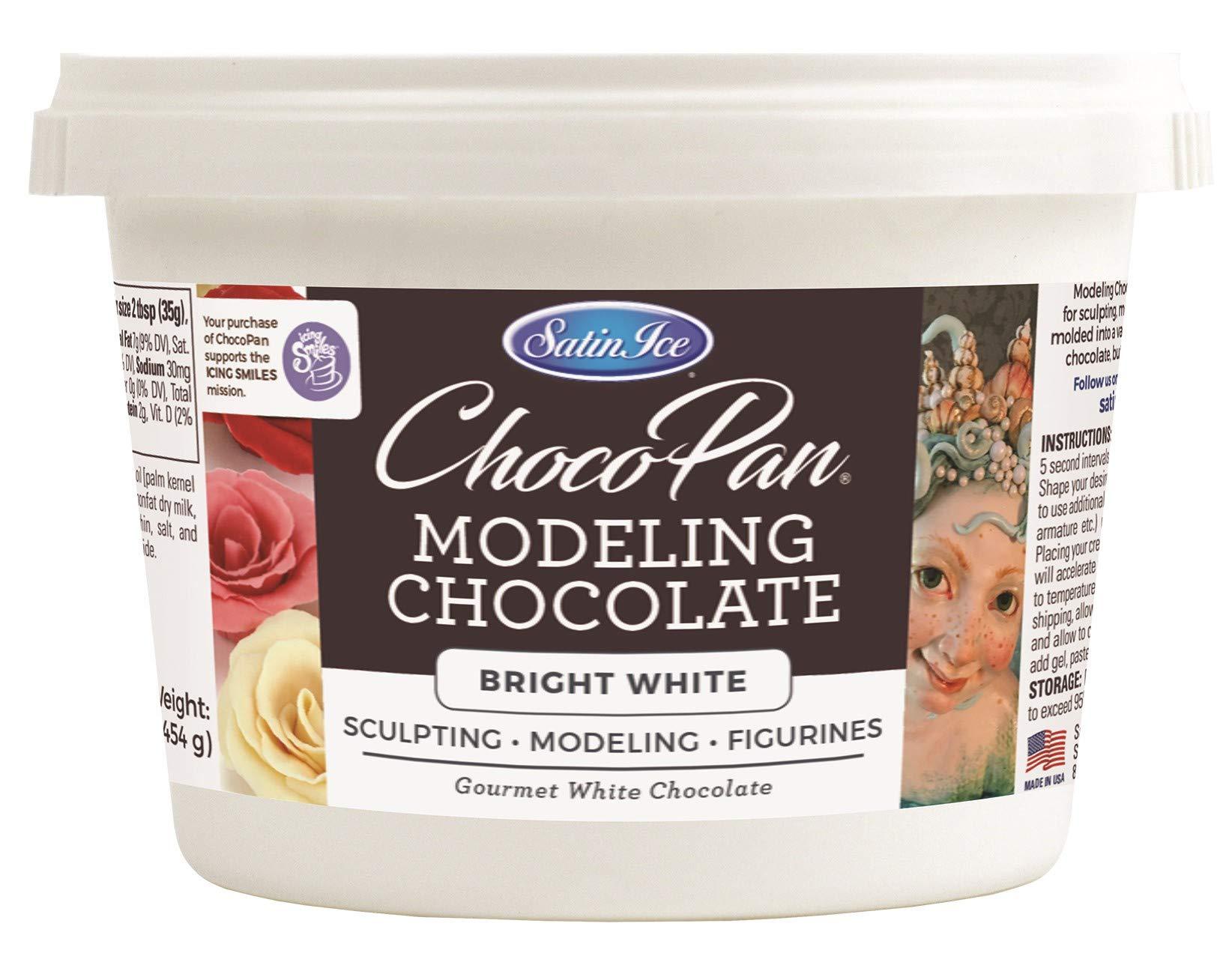 Satin Ice ChocoPan Bright White Modeling Chocolate, 1 Pound