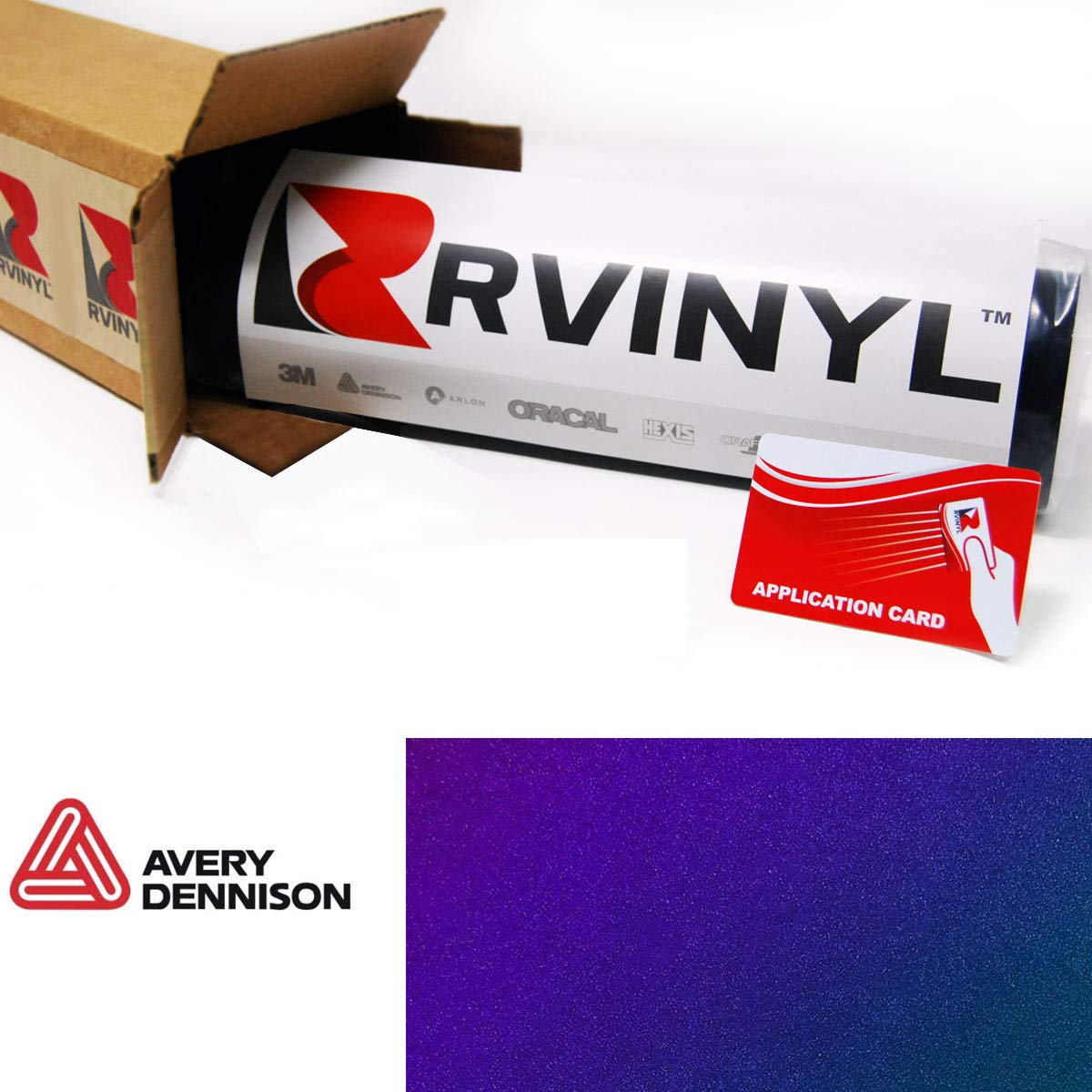 """Avery SW900 674-S ColorFlow Gloss Rushing Riptide Supreme Wrapping Film Vinyl Vehicle Car Wrap Sheet Roll - (12"""" x 60"""" w/Application Card)"""