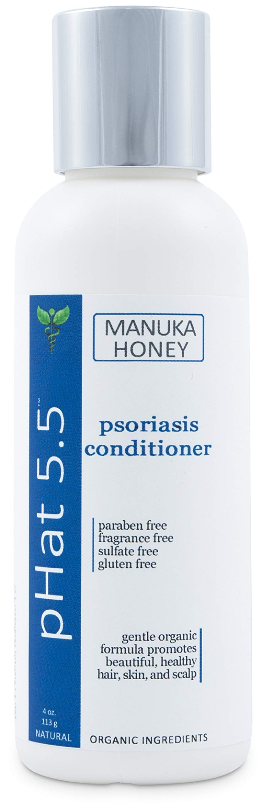 Deep Moisturizing Conditioner for Psoriasis - Natural and Organic Dry and Itchy Scalp Treatment with Coconut Oil and Manuka Honey - Sulfate & Paraben Free Conditioner and Dandruff Treatment (4 oz)