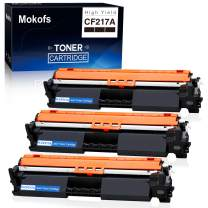 Mokofs Compatible Toner Cartridge Replacement for HP 17A CF217A Toner Carteidges, Work on HP Laserjet Pro M102w M102a, MFP M130nw M130fw M130fn M130a Printer (Black, 3 Pack)