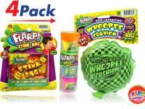 JA-RU Flarp Self-Inflating Whoopee Cushion, Stink Bag and 4 Pack Noise Putty Bundle Item #327-44-336 E17