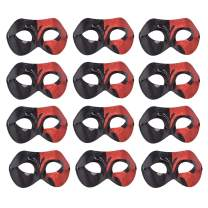 Yiseng 12pcs Pack Mardi Gras Masquerade Venetian Mask Half Face Dance Party Costume Accessory