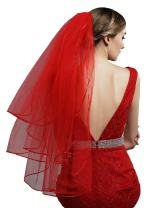Sarahbridal Girl White and Ivory Communion Wedding Crystal Veil Accessory with Comb