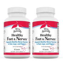 Terry Naturally Healthy Feet & Nerves (2 Pack) - 60 Vegan Capsules - Nerve Function Support Supplement, Contains B Vitamins & Boswellia - Non-GMO, Gluten-Free - 30 Total Servings