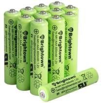 NiMH Rechargeable AAA Battery Pack of 12, 600mAh 1.2v Pre-Charged Triple A Solar Battery for Solar Lights, Remote Controller, Electric Toys, UL Certified