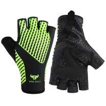 nine bull Cycling Gloves Bike Gloves Half Finger Fitness Gloves, Light Anti-Slip Shock-Absorbing Biking Workout Gloves for Women and Men