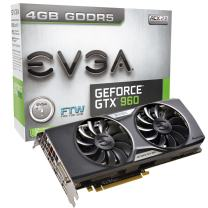 EVGA GeForce GTX 960 4GB FTW GAMING ACX 2.0+, Whisper Silent Cooling w/ Free Installed Backplate Graphics Card 04G-P4-3968-KR