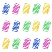ISMARTEN 100 Pack Pet Wide Colorful Springs Cat Toys Plastic Coil Spiral Springs for Cat Kitten Pets (Random Color)