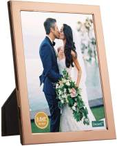 decanit 3.5x5 Picture Frames Rose Gold Metal Photo Frames for Tabletop Display and Wall Decoration-Best Gifts for Family