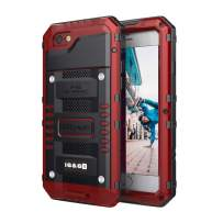 Mitywah iPhone 6 6s Case Heavy Duty Waterproof Shockproof Dustproof Tough Metal Full Body Protective Built-in Screen Protection, Under Armor Military Grade Rugged Defender Impact Case for 6 / 6s,Red