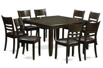 9 Pc Dining room set-Dinette Table with Leaf and 8 Kitchen Chairs.