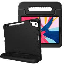 Fintie Case for iPad Pro 11 Inch 1st Generation 2018 [Supports 2nd Gen Pencil Charging Mode] - Kiddie Series Light Weight Shock Proof Kids Friendly Protective Stand Cover with Pencil Holder, Black
