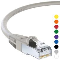 InstallerParts Ethernet Cable CAT6 Cable Shielded (SSTP/SFTP) Booted 10 FT - Gray - Professional Series - 10Gigabit/Sec Network/High Speed Internet Cable, 550MHZ