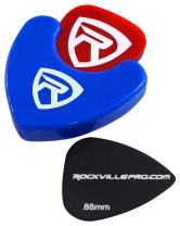 Rockville PH-Blue Pick Holder with Sticky Adhesive - Holds 3 to 4 Picks