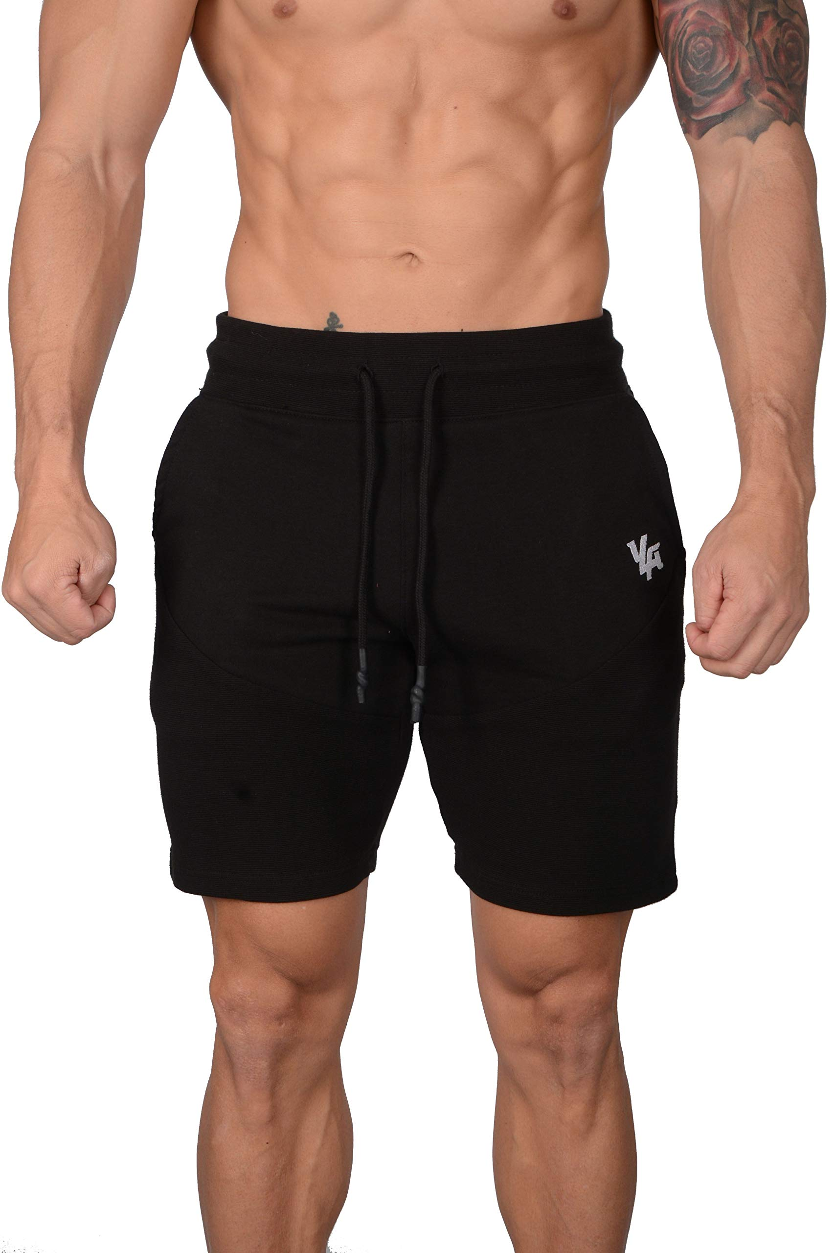 YoungLA Gym Shorts for Men | Athletic Training Workout Running with Pockets 123