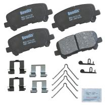 Bendix CFC1281 Premium Copper Free Ceramic Brake Pad (with Installation Hardware Rear)
