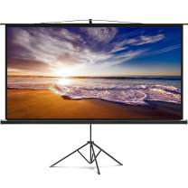 "Delux Screens 84"" Portable Projector Screen with Stand 