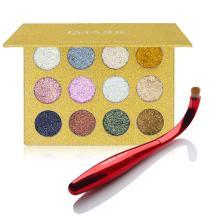 CCbeauty Metallic Eyeshadow Palette with Blending Brush Glitter Eye Makeup Diamond Eye Shadow and Eyeshadow Brush Set (Brush+ #1)