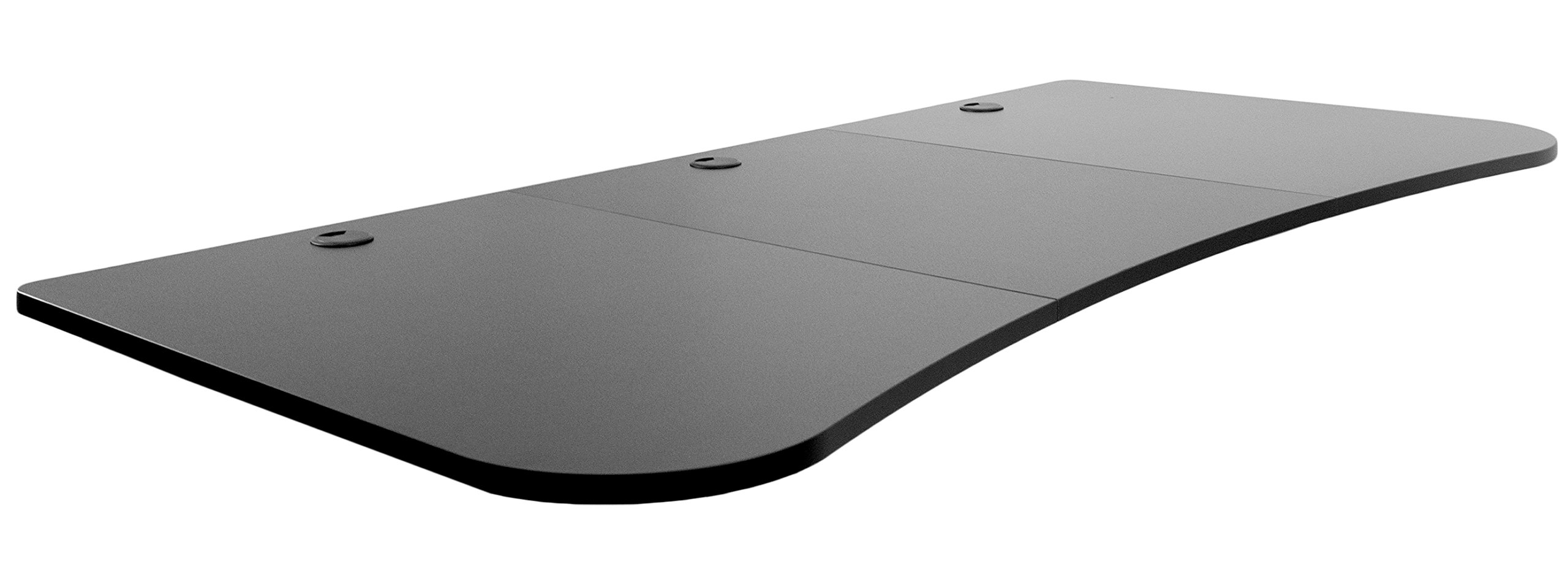 VIVO Black 63 x 32 inch Universal Table Top for Standard and Sit to Stand Height Adjustable Home and Office Desk Frames | 3 Section Desktop (DESK-TOP1B)