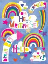 Jewelkeeper Rachel Ellen Princess Oh Hey! Writing Kit, Girls Stationery Paper Letter Set, Stickers, Envelope Seals