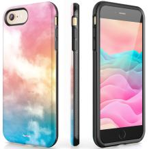 VeaYook Abstract for iPhone 8 iPhone 7 Girls with Ring Holder Kickstand Slim Dual Layer Shockproof Anti-Scratch Anti-Finger Durable Hybrid Rubber Impact Resistant