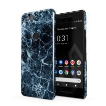 BURGA Phone Case Compatible with Google Pixel 2 - Dark Ice Blue and Black Marble Cute Case for Woman Thin Design Durable Hard Shell Plastic Protective Case