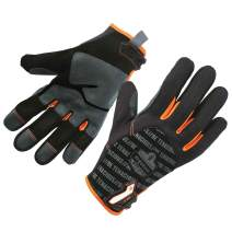 ProFlex 810 Work Glove, Reinforced Fingertips and Palm, Breathable Comfort, Small, Black