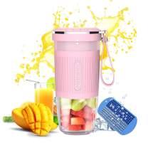 Portable Blender, AUZKIN Cordless Mini Personal Blender Small Smoothie Blender USB Fruit Juicer Mixer - 10 Oz Rechargeable,IP68 Waterproof, BPA Free,Pink