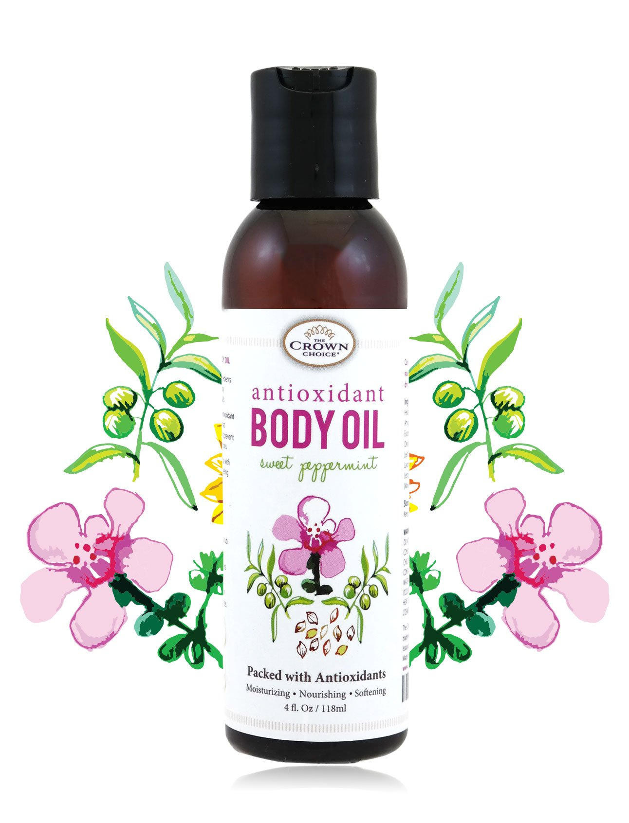 100% Natural Antioxidant Body Oil for Skin and Hair | Antioxidant Rich Moisturizing Oils Soothe Dry and Sensitive Skins | Desert Date, Manuka, Sunflower, Almond, Olive Oils & Vitamin E