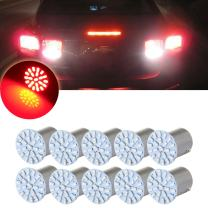 cciyu 1156 22 SMD LED Exterior Light Bulbs Replacement fit for Backup,Reverse,Tail,RV Lights,10Pcs Red