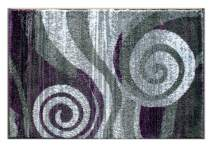 Masada Rugs, Stephanie Collection Area Rug Modern Contemporary Design 1103 Purple Grey White (2 Feet X 3 Feet) Mat
