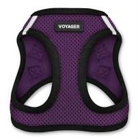 """Voyager Step-in Air Dog Harness - All Weather Mesh, Step in Vest Harness for Small and Medium Dogs by Best Pet Supplies - Purple, X-Small (Chest: 13"""" - 14.5"""")"""
