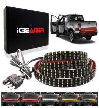"ICBEAMER 6-Function 60"" Triple Row 504 LED Truck Tailgate Light Strip Bar Waterproof Reverse Turn Signal, Parking, Brake"