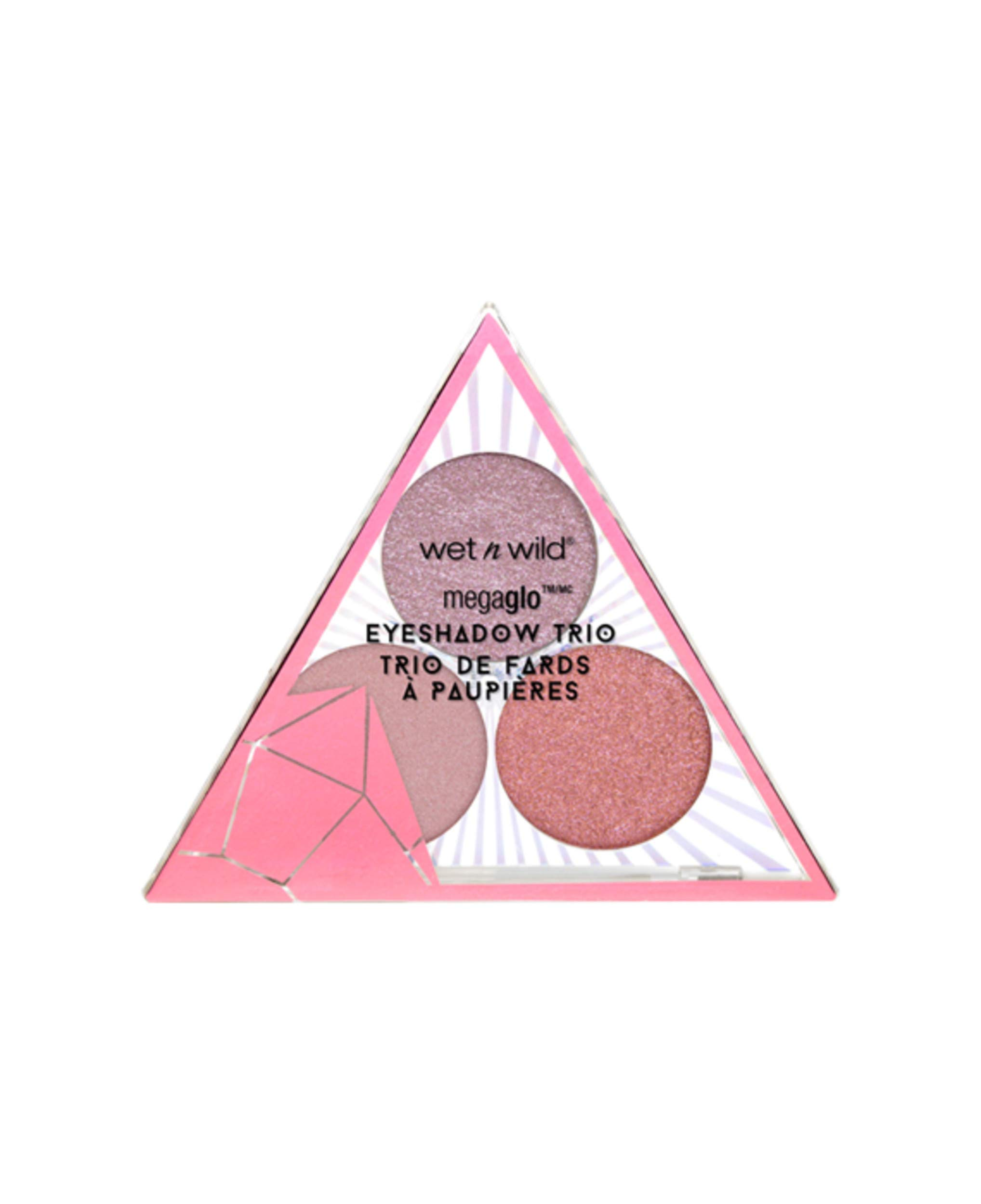 wet n wild Crystal Cavern Mega Glo Eyeshadow Trio, Rose Quartz