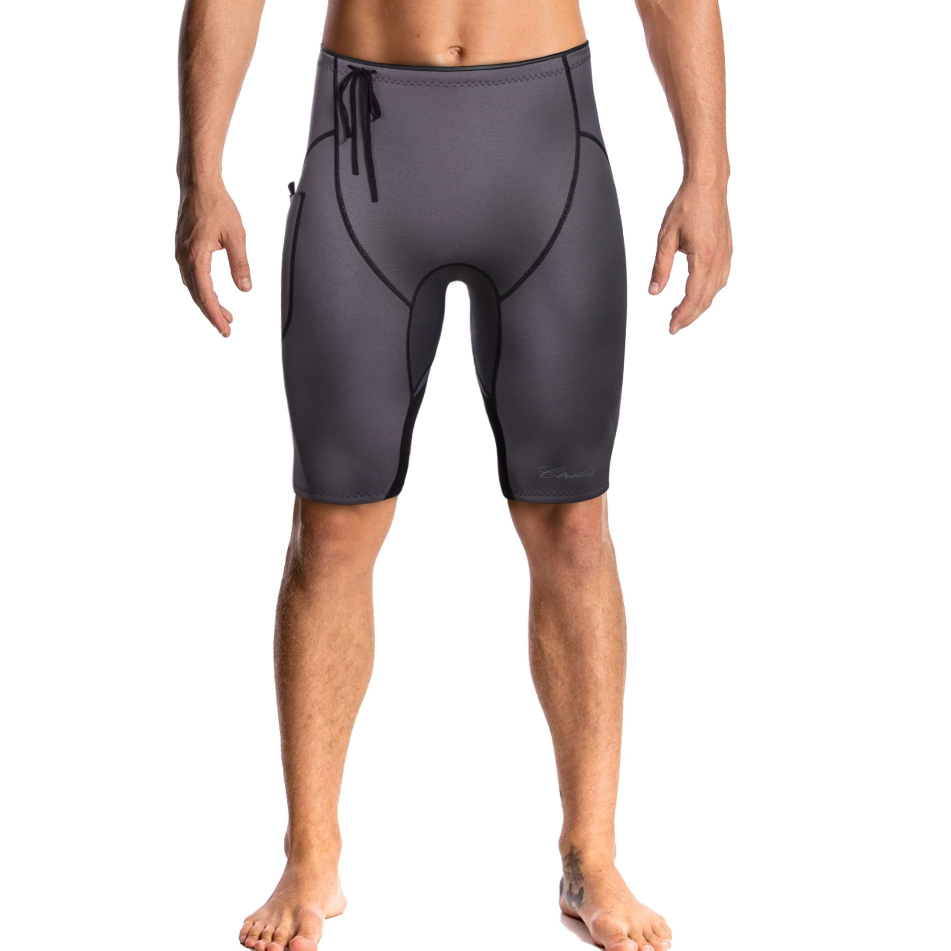 CtriLady Neoprene Wetsuit Short 2mm Premium Sweat Fitness Pants Swim Jammer Buoyancy Shorts with Pocket for Snorkeling Surfing Swimming Training